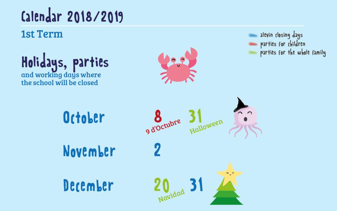 Calendario trimestral 2018-2019